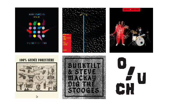 Pochettes des disques Ouch ! Records 2019
