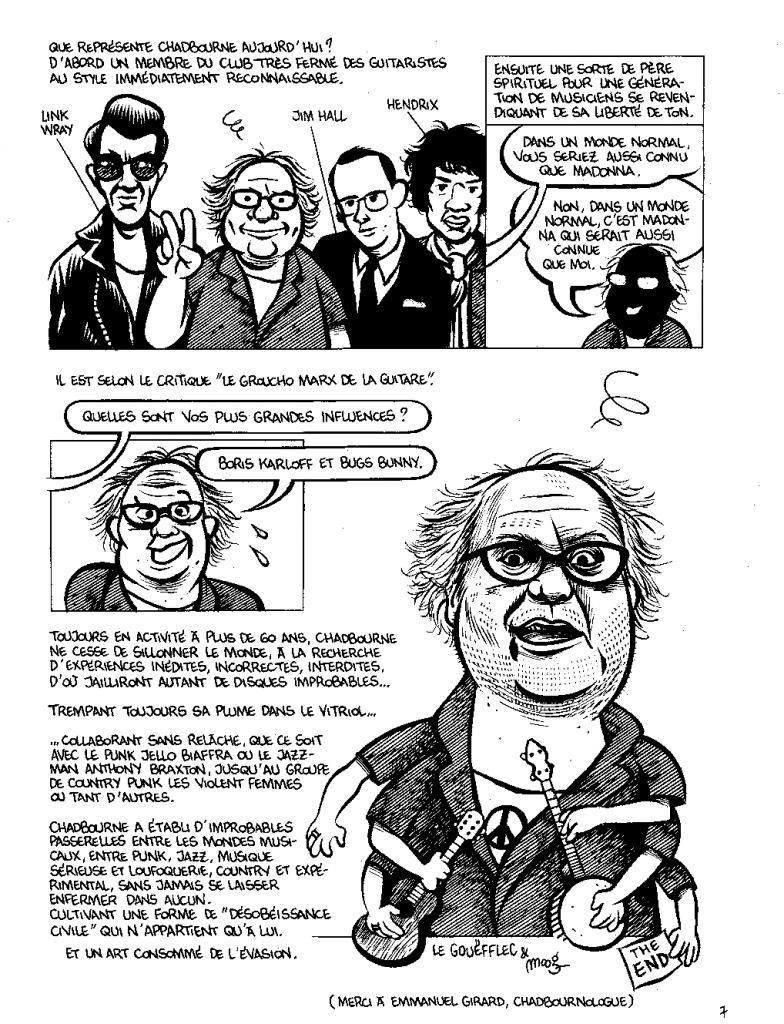 Eugene Chadbourne par Nicolas Moog - Planche BD